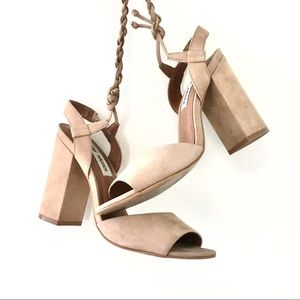 Steve Madden Sexy Tan Lace Up Heels 6.5